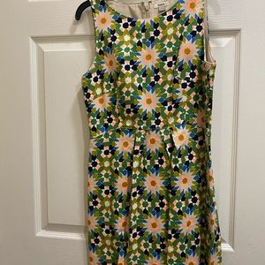 FOSSIL starburst fitted dress